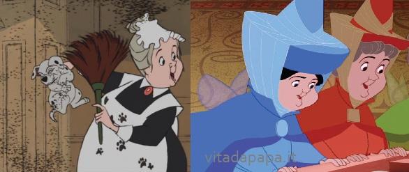 Tutte le somiglianze nei cartoni animati di walt disney